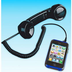 Black Handset for iPhone