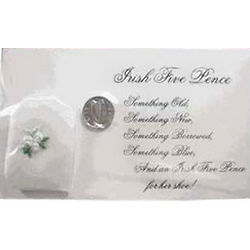 Irish Five Pence Wedding Tradition Coin