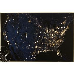 United States at Night Wall Canvas