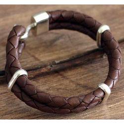 Men's Desert Paths Leather Braided Bracelet