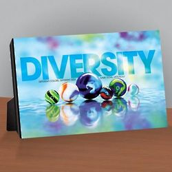 Diversity Marbles Infinity Edge Desktop Print