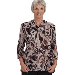 Women's Soft Shawl V Neck Adaptive Top