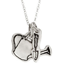 Charming Pastimes Gardening Pendants Necklace