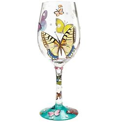 Butterfly Wishes Wine Glas