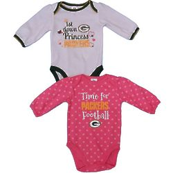 2 Packers Princess Bodysuits