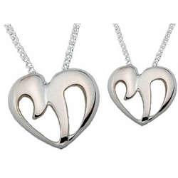 Sterling Silver Chai-Heart Pendant