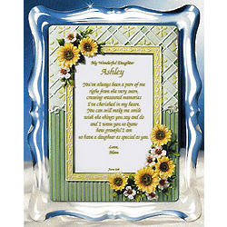 Personalized Sunflowers Musical Frame for Daughter