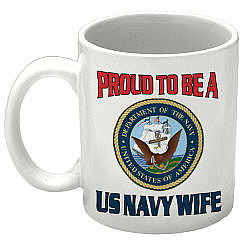 Proud To Be A... Personalized Military Ceramic Coffee Mug