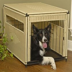 Medium Decorative Wicker Pet Home