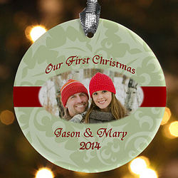 Our Love Personalized Romantic Photo Christmas Ornament