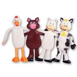 Bendable Farm Animal Toys
