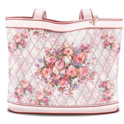 Lena Liu Breast Cancer Support Floral Design Tote Bag: Hope Bloss