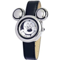 Women's Engraved Disney Mickey Mouse Ears Watch
