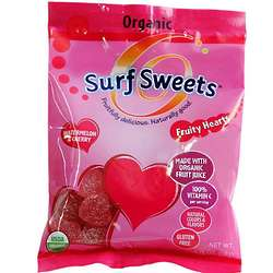 Fruity Hearts Organic Watermelon and Cherry Candy