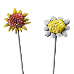 Daisy or Sunflower Stick in the Mud Garden Decor
