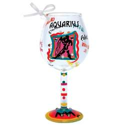 Aquarius Mini Wine Glass Ornament