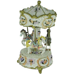 Hand Painted Musical Revolving Carousel