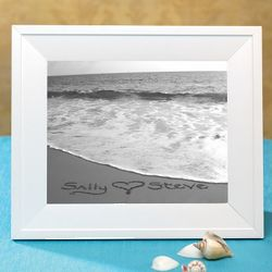 Names in the Sand Framed Custom Seaside Photo