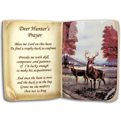 Hunters Prayer Plaque