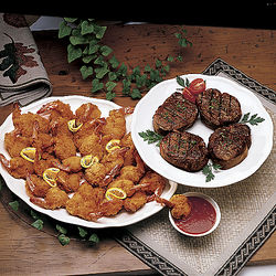 Fantail Shrimp and Filet Mignon Combination