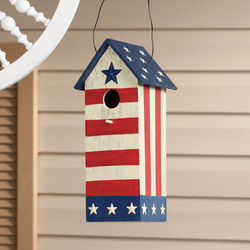 Stars and Stripes Wooden Birdhouse