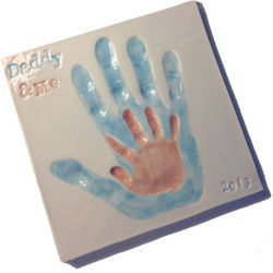 Daddy and Me Ceramic Handprint Plaque