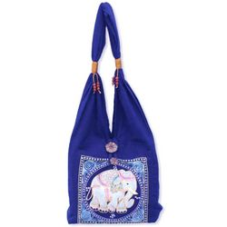 Lucky Elephant Cotton Handbag