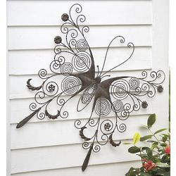 Large Metal Butterfly Wall Art
