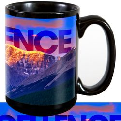 Excellence Mountain Motivational Ceramic Mug