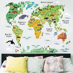 World Map & World Animal Stickers