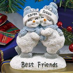 Personalized Snowbuddies Best Friends Figurine