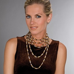 Cocoa-Colored Cultured Freshwater Pearl Necklace