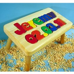 Birthday Stool with 1-8 Letters