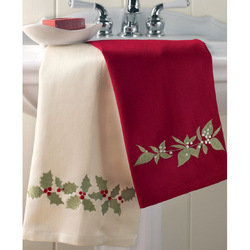 Winter Bouquet Embroidered Guest Towels