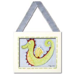 Seahorse Framed Canvas Hanging Wall Art