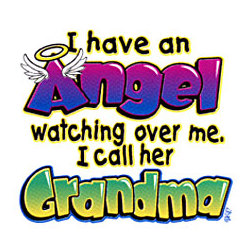 Angel Wtching Over Me Called Grandma Youth T-Shirt