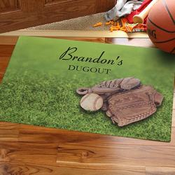Personalized Baseball Doormat