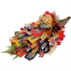 Fall Cornucopia Candy Bouquet