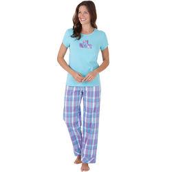 #1 Mom Plaid Pajama Set