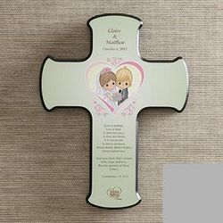 Personalized Precious Moments Wedding Wall Cross