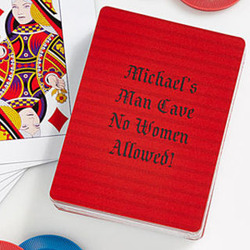 Custom Text Personalized Playing Cards