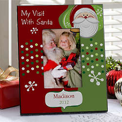Visit with Santa Personalized Christmas Picture Frame