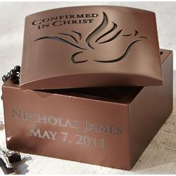 Personalized Confirmation Rosary Box