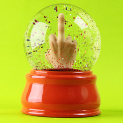 Instant F*ck You Finger Snow Globe