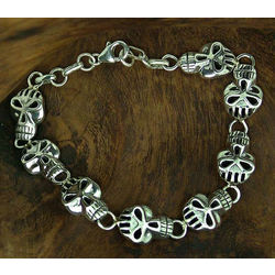 Men's Deadly Smile Sterling Silver Bracelet