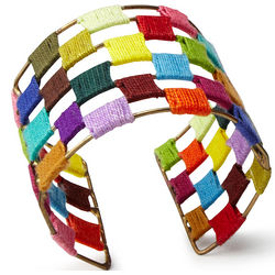 Threaded Spectrum Cuff Bracelet