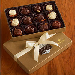 Chocolate Caramel Clusters Gift Box