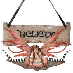 Hand-Painted Believe Fairy Sign