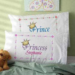 Jr. Royalty Personalized Pillowcase