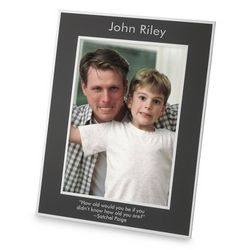 Large Engraved Flat-Iron Portrait Picture Frame